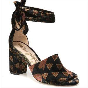 Sam Edelman 6.5 Odele Velvet Wrap Sandals